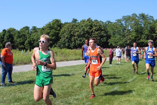 Logan Pierce making big improvements on his running from last year.