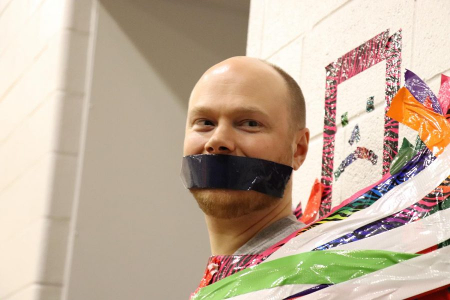 Mr. Mason gets his mouth taped shut!