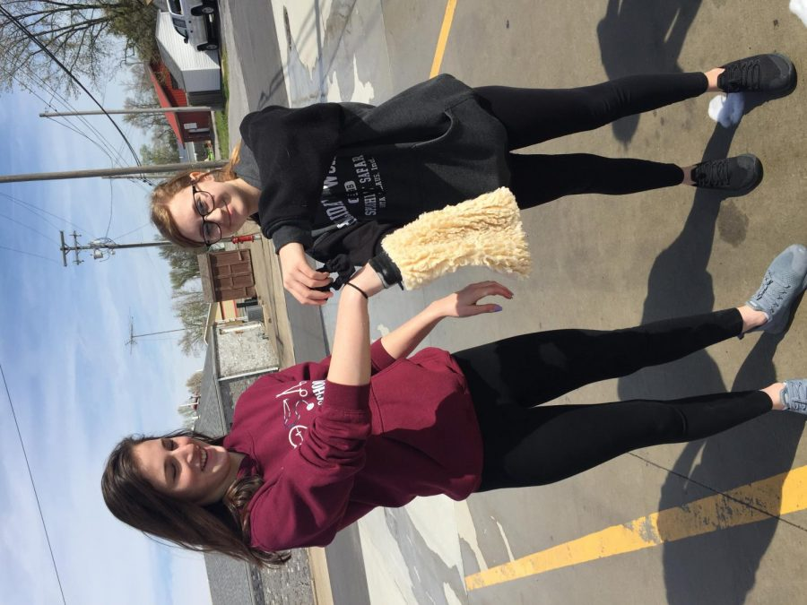 Washing cars for HOSA Madison Kendrick and Macy Parks, have the wet soap rag!