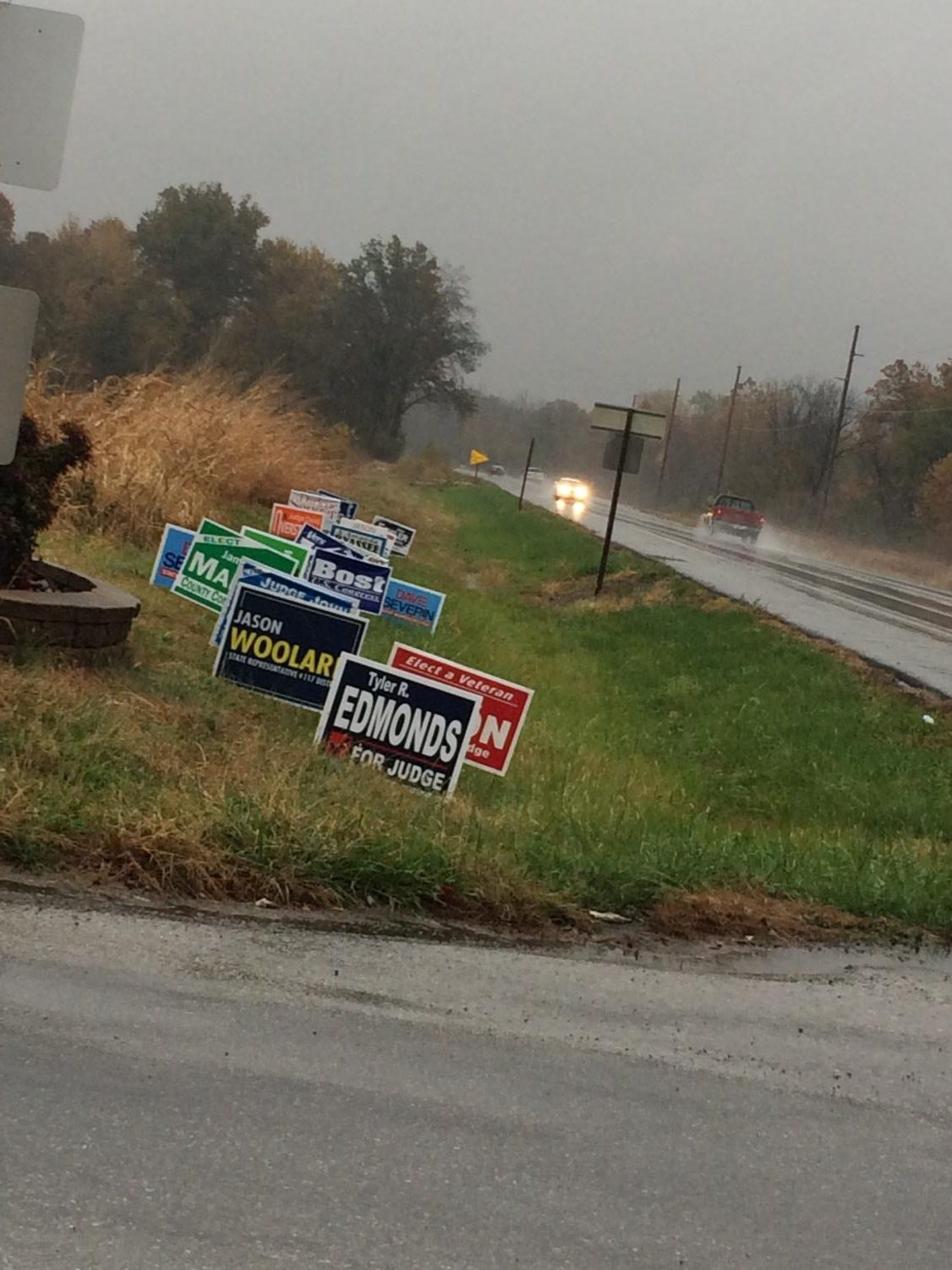 Rain or Shine Get Out and Vote!