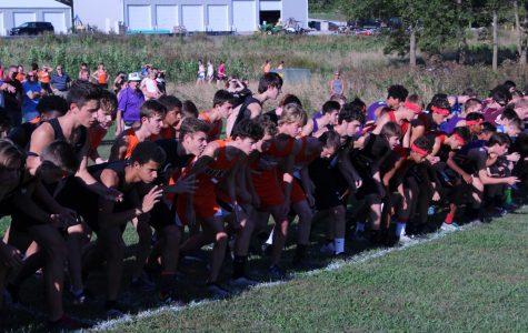 The boys team gets ready to start their race.