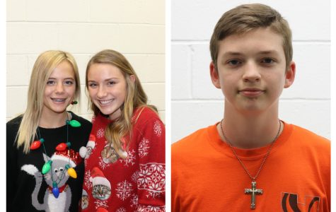 The December Athletes of the Month are Bryndle Burks (12), Kelby Weber (10), and Tyler Dunfee (11).