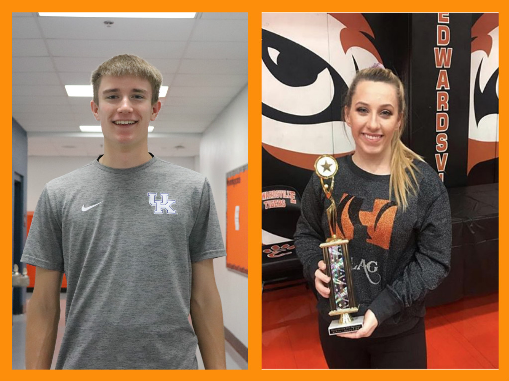 The January Athletes of the Month are seniors Hayden Holloway and Cecily Smith.