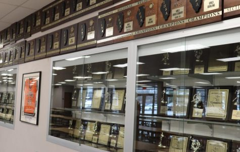 The Tigers have a long history of excellence, as the long rows and shelves of trophies and plaques in the commons area suggests.  This year, the Tigers have made a point to carry on this tradition, bringing home titles in a range of events, from math team, to boy's basketball, to fishing competitions.