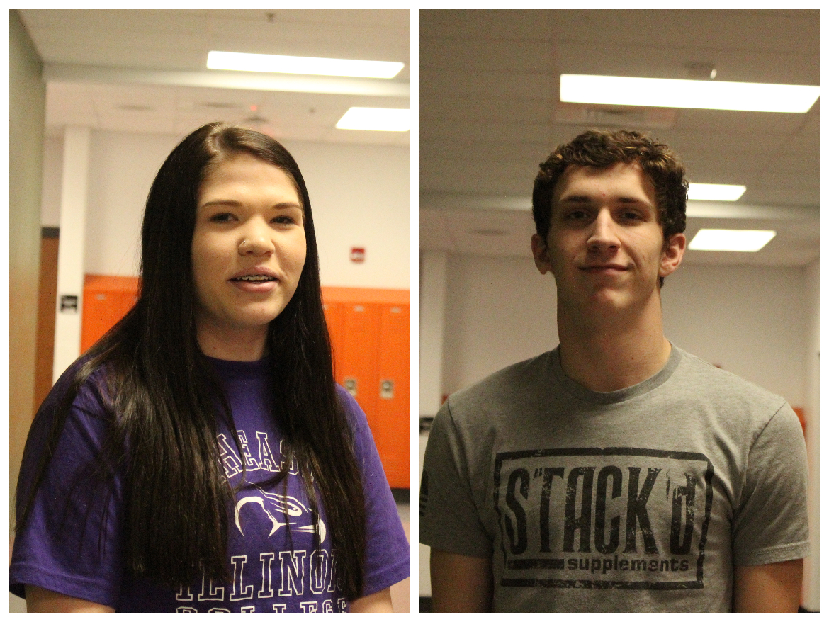 The March Athletes of the Month, seniors Jenna Wolff and Tate Johnson, have certainly made their mark on Herrin High.