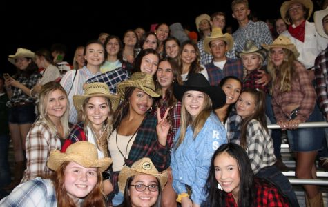 The student section shows off their school spirit on Cowboys versus Indians night at Du Quoin.
