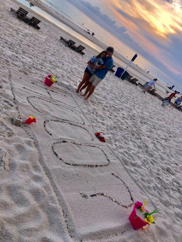 Lucas Sissom (9) gets creative while asking Brooke Patterson (9) to homecoming