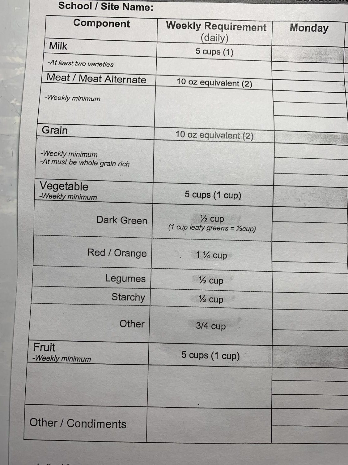 New Year Nutrition Requirements