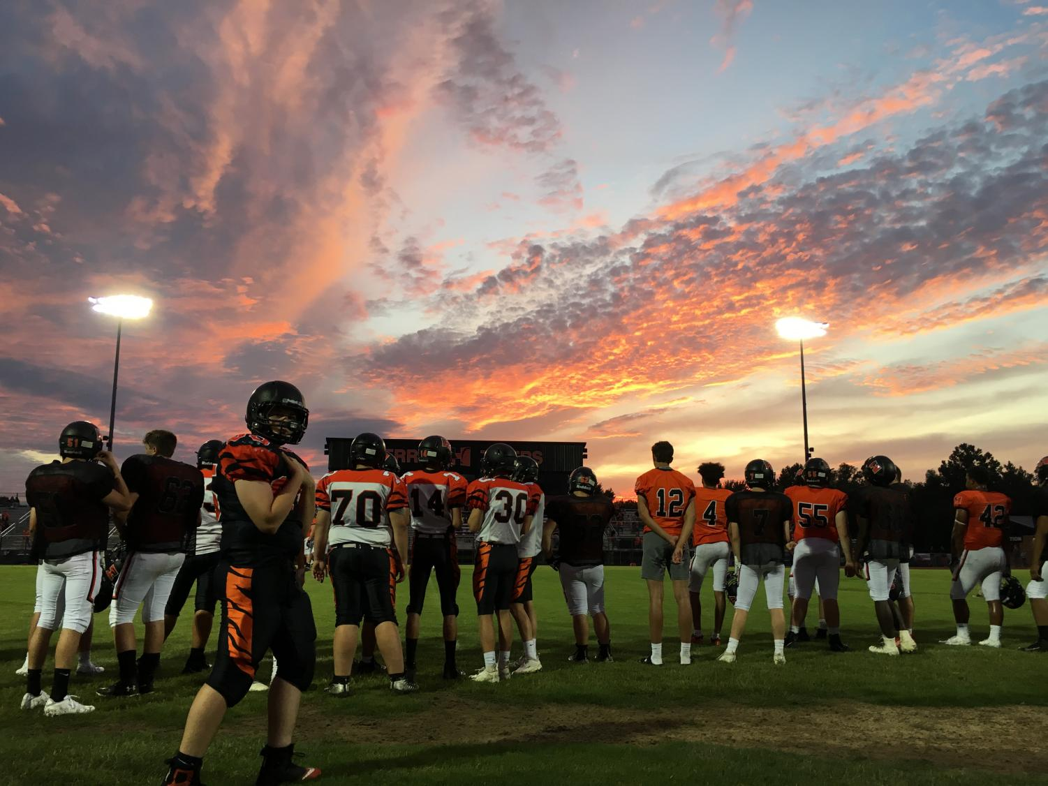 The sky set a beautiful backdrop for the Powerade Scrimmage.
