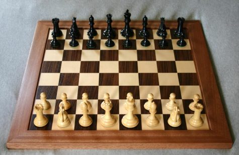 The Chess Club uses boards like this when competing against one another at meetings.