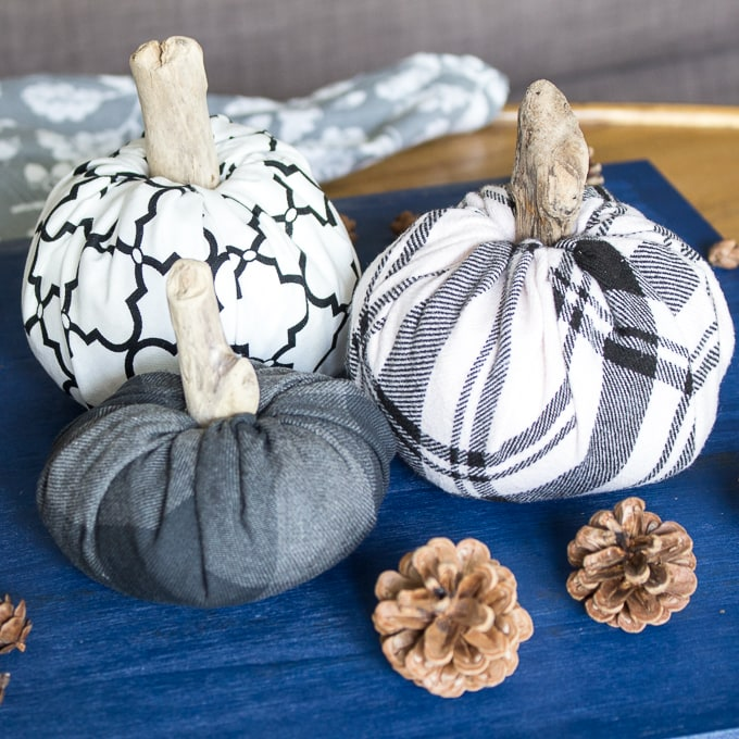 Making your own fall decorations like these fabric pumpkins is easier than you think.