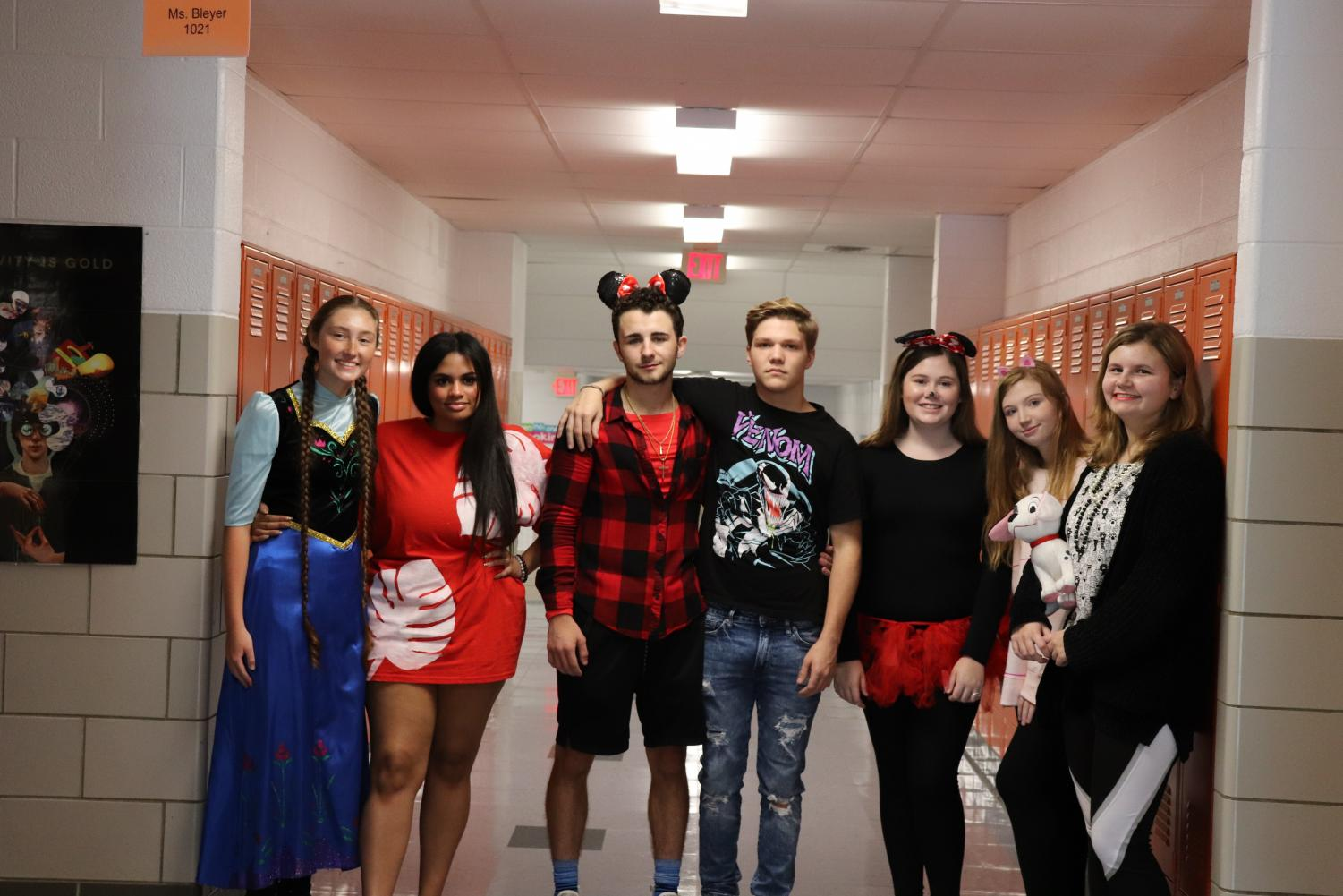 Ms. Bleyer's class enjoys dressing up for Disney Day on Wednesday.