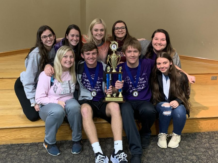 Senior Math Team members shine with the gold.