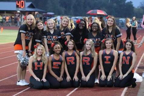 The Tigerettes pose for a picture at the first home football game on September 20th.