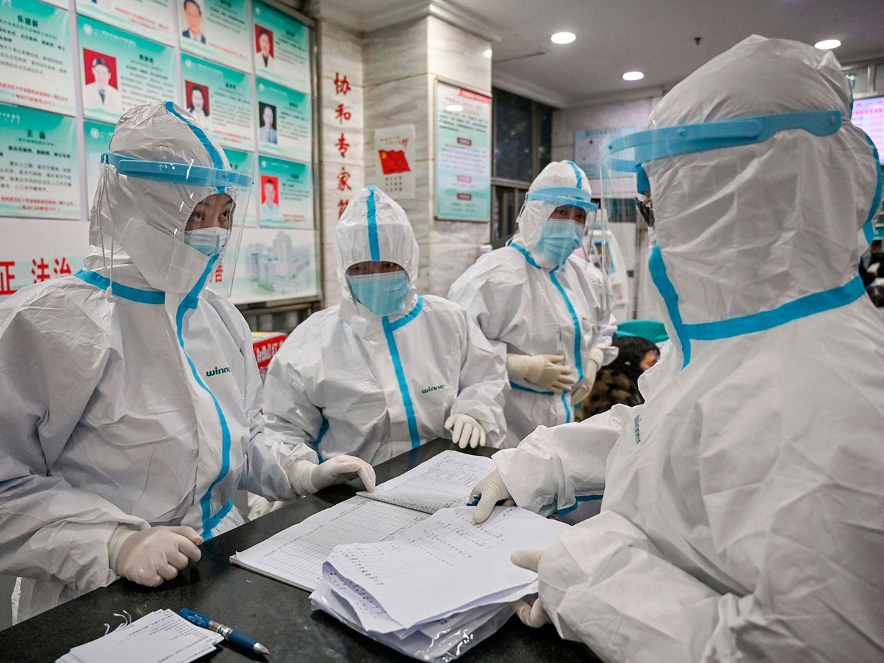 Scientists gather to try to find a cure the Coronavirus.