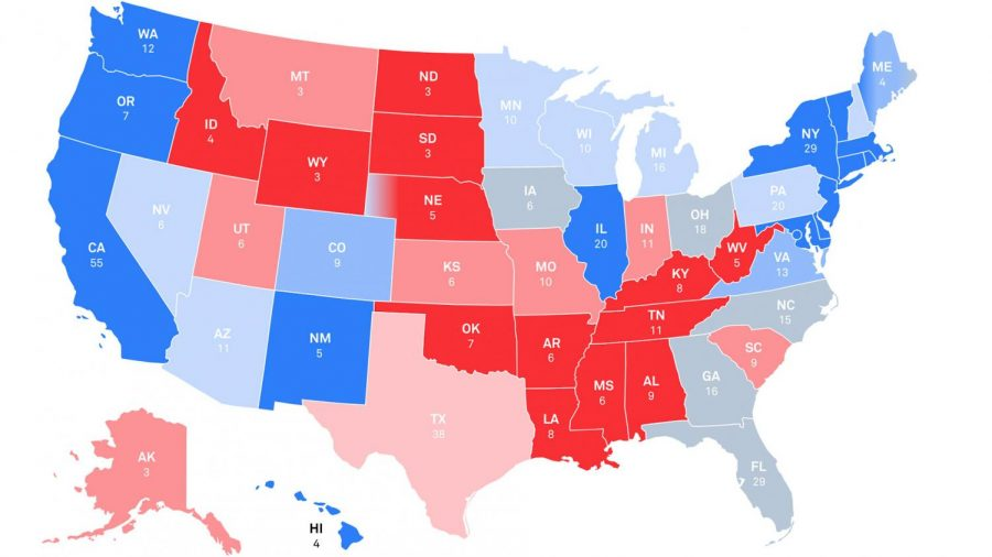 Results from the Presidential Election are shown in this Electoral College map.